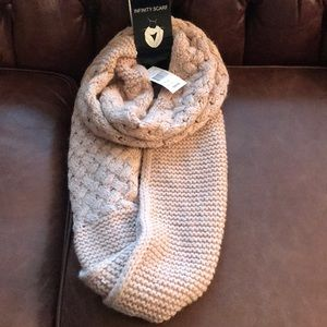 Infinity Scarf Blush and Silver
